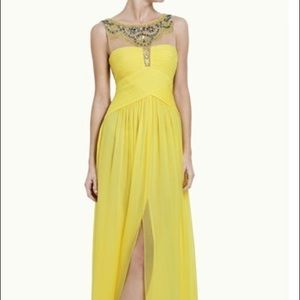 Yellow BCBG Harlo gown